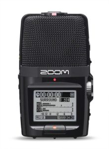 Zoom H2 Handy Portable Stereo Recorder.