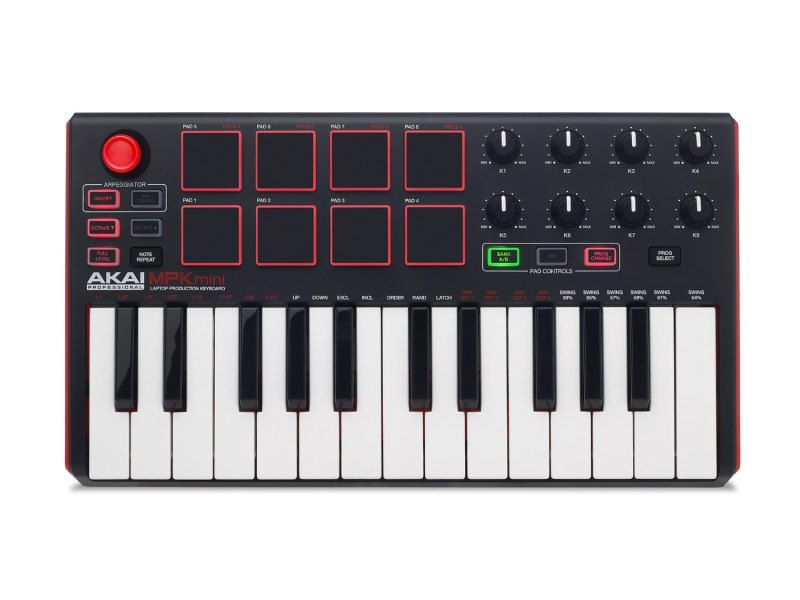 Akai Professional MPK MINI MKII  The best USB MIDI Keyboard for a home recording studio (2)