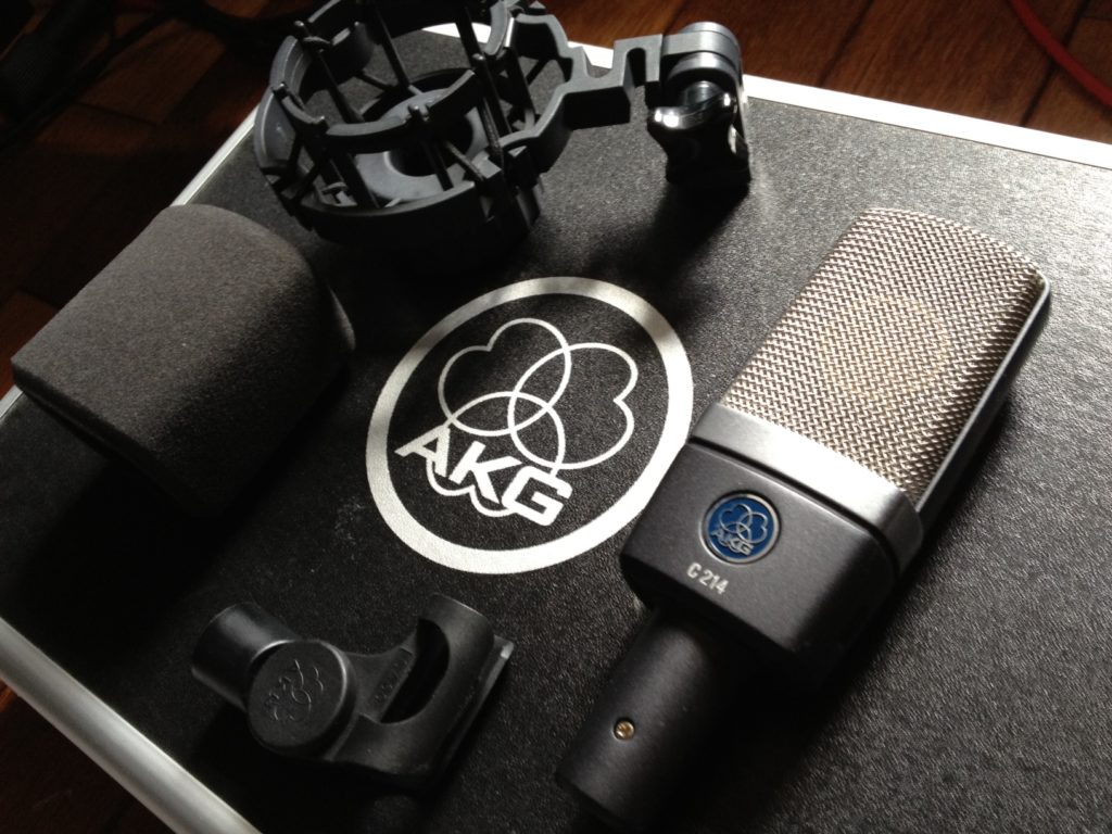 AKG C214 - best condenser microphone for home recording studio