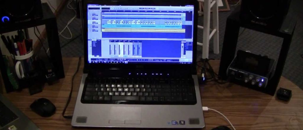 recording music on a laptop
